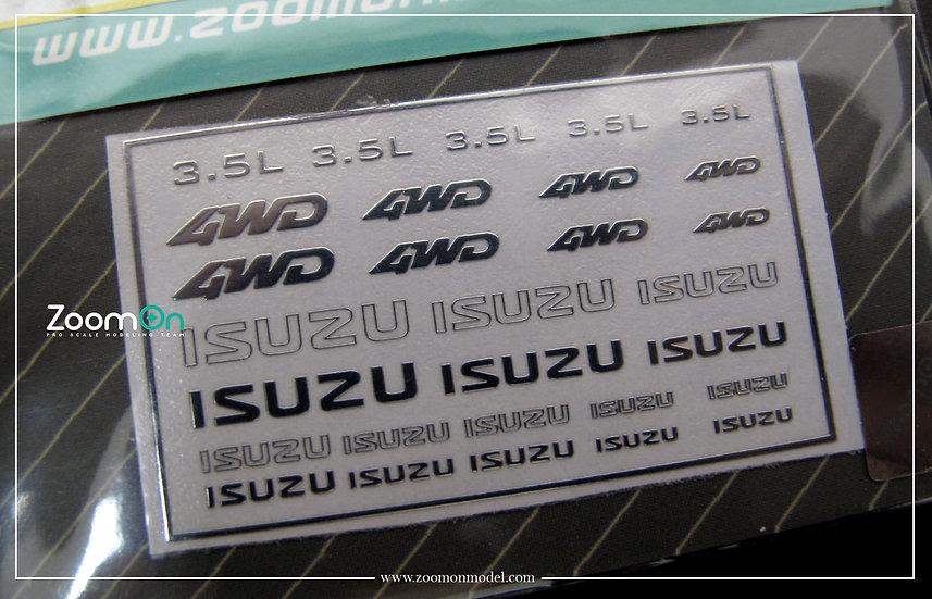 ZD037 ISUZU metal sticker