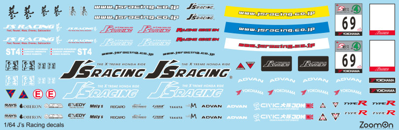 ZD041 1/64 J's Racing decal