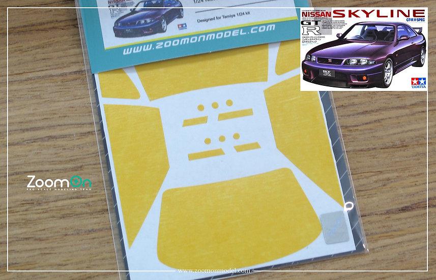 ZD059 Window & light painting masks - Nissan Skyline GTR R33