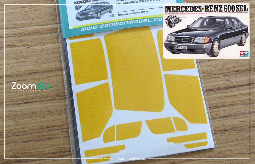 ZD114 Window & light painting masks - Mercedes-Benz 600 Sel (W140)