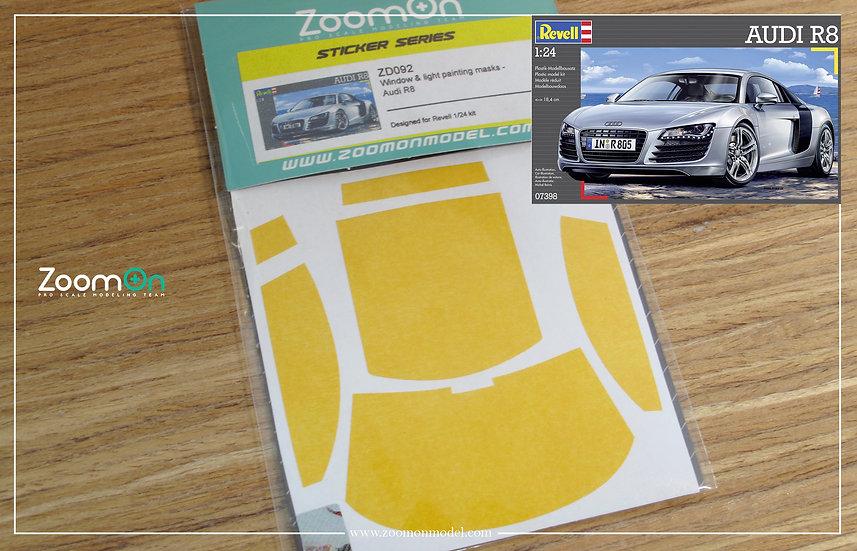 ZD092 Window & light painting masks - Audi R8