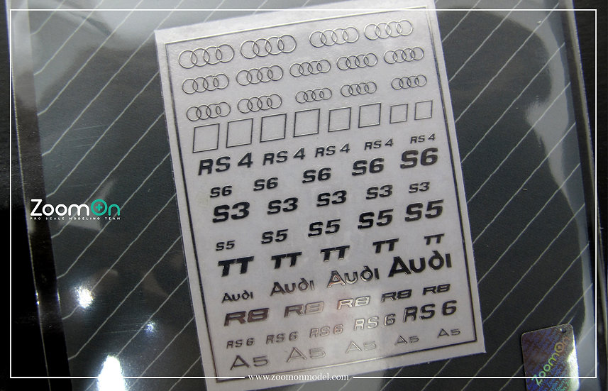 ZD025 Audi logometal sticker