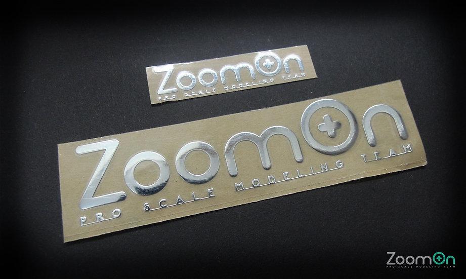 ZT002 ZoomOn logo metal sticker