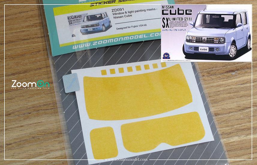 ZD091 Window & light painting masks - Nissan Cube