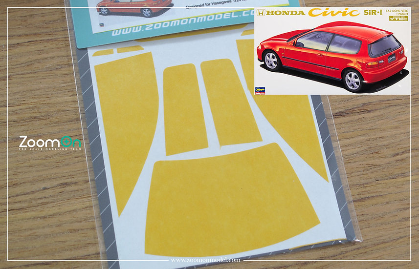 ZD069 Window & light painting masks - Honda Civic EG