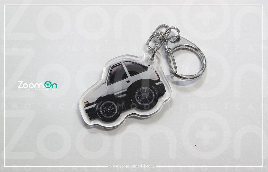 ZA009 Toyota Trueno AE86 Q Keychain
