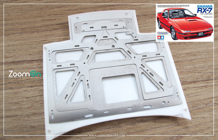 ZD081 Mazda RX-7 FC hood structure