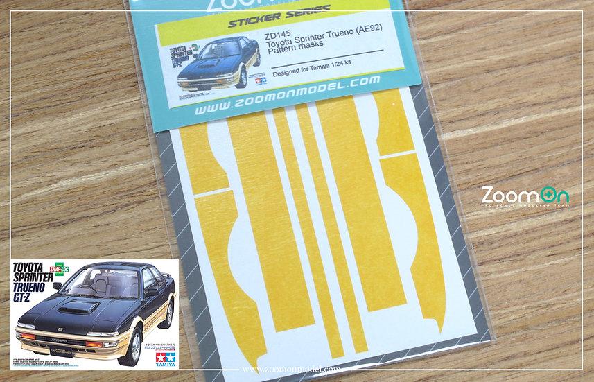 ZD145 Toyota Sprinter Trueno (AE92) Pattern masks