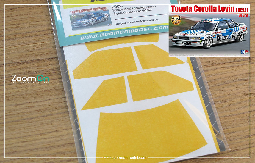 ZD097 Window & light painting masks -  Toyota Corolla Levin (AE92)