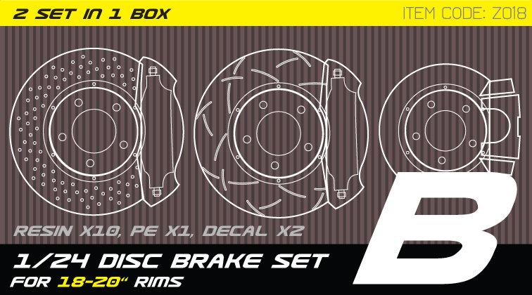 Z018 1/24 Disc brake set B for 18-21'' rims