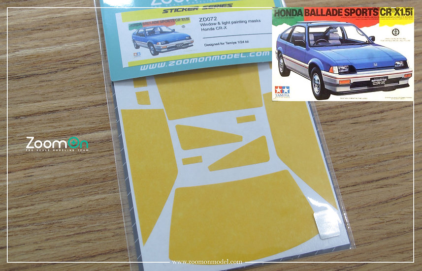 ZD072 Window & light painting masks - Honda CR-X