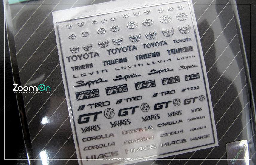 ZD026 Toyota logo metal sticker (A)