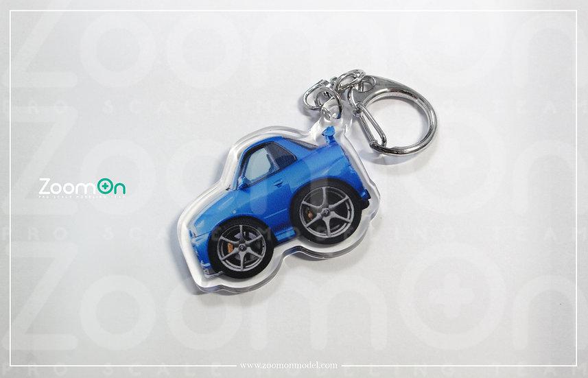 ZA015 Nissan GTR 34 Q Keychain