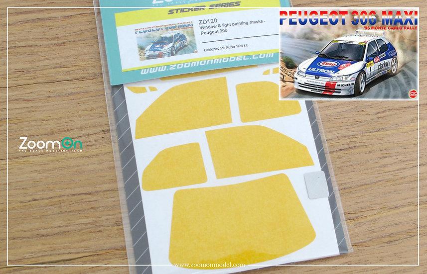 ZD120 Window & light painting masks -  Peugeot 306