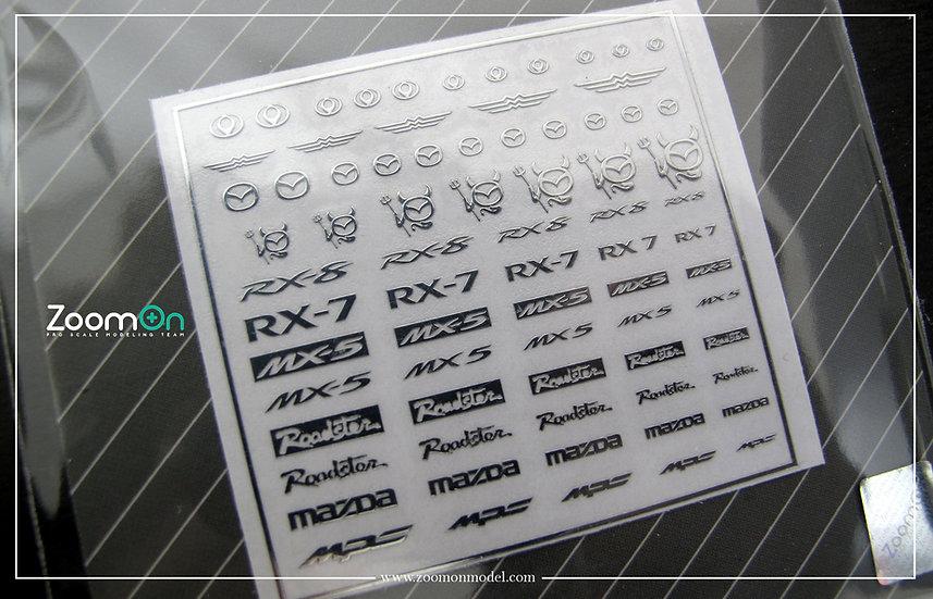 ZD028 Mazda metal sticker