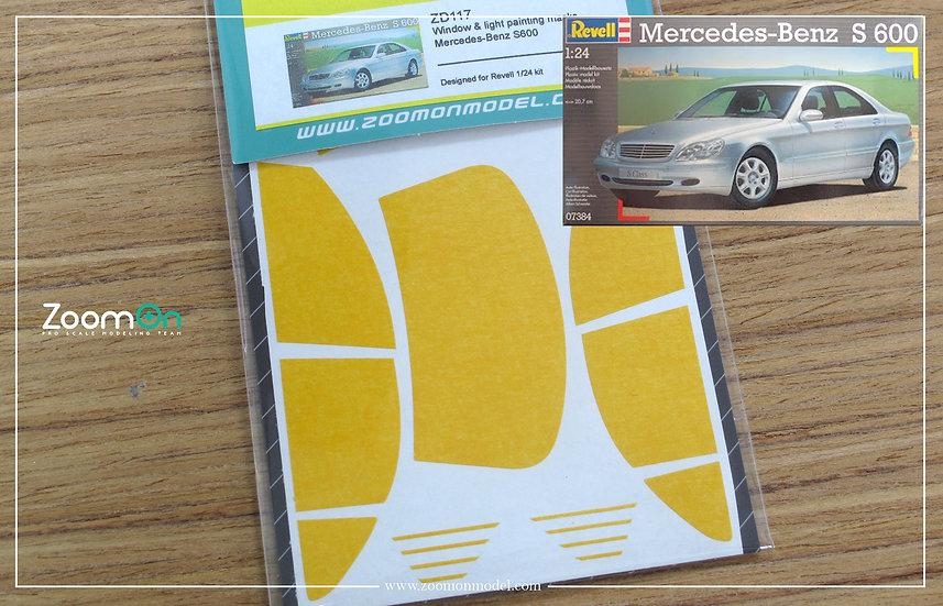 ZD117 Window & light painting masks - Mercedes-Benz S600