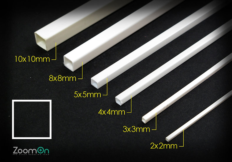 ZT014 Square plastic rod set (Tube)