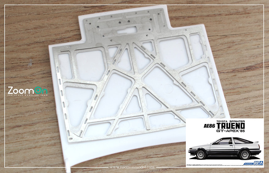ZD122 Toyota AE86 hood structure