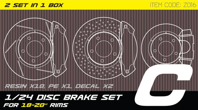 Z016 1/24 Disc brake set C for 18-21'' rims
