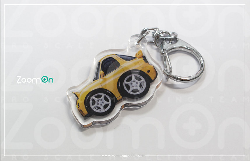ZA002 Mazda RX-7 Q Keychain