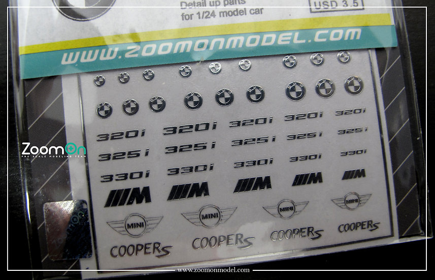 ZD024 BMW logo metal sticker