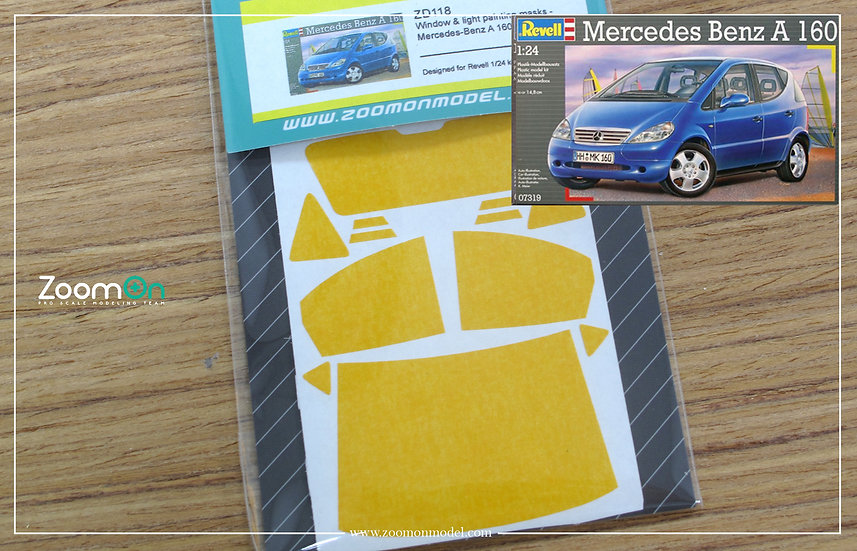 ZD118 Window & light painting masks - Mercedes-Benz A 160