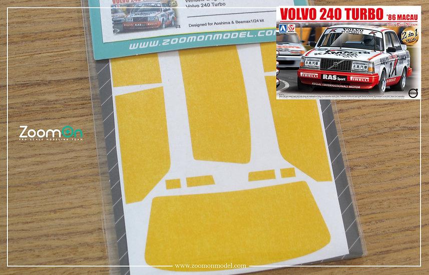 ZD102 Window & light painting masks -  Volvo 240 Turbo