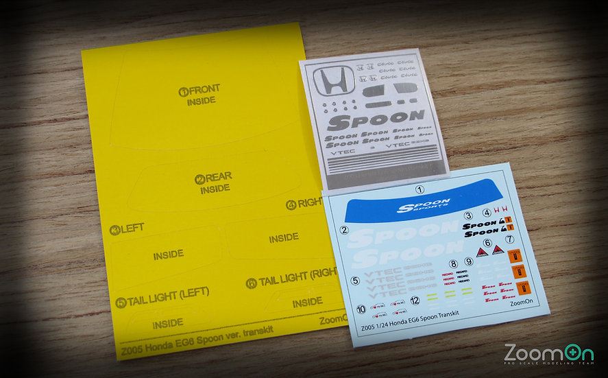 ZD002 Honda EG6 sticker set