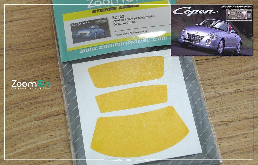 ZD132 Window & light painting masks - Daihatsu Copen
