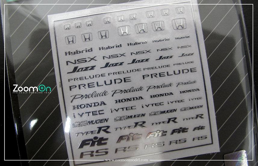 ZD030 Honda logo(A) metal sticker