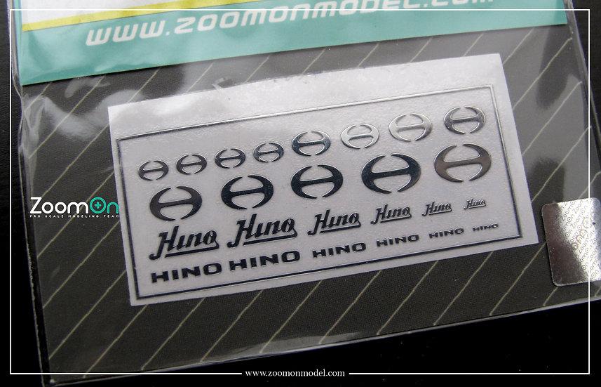 ZD038 Hino metal sticker