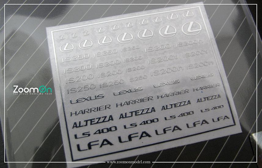 ZD022 Lexus logo metal sticker