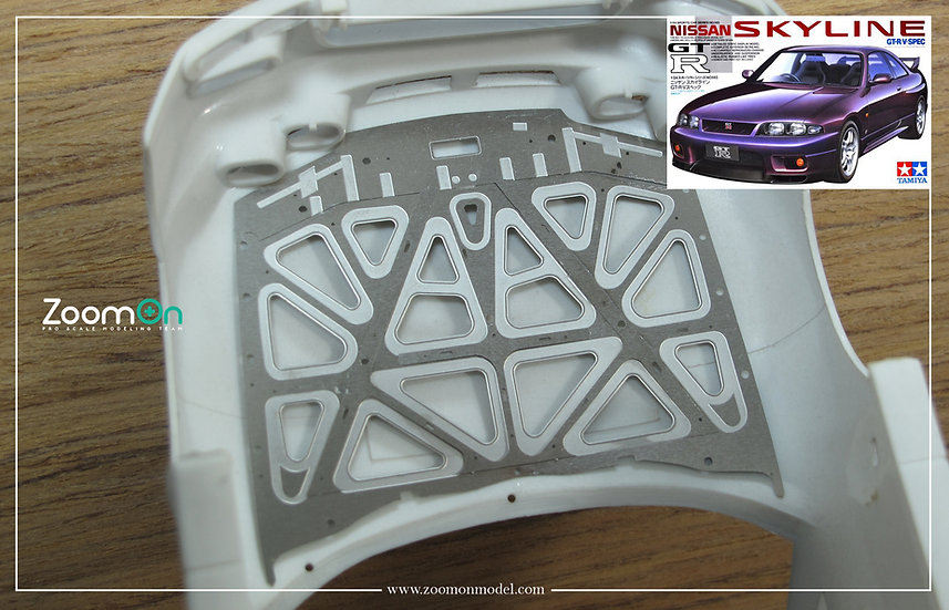 ZD137 Nissan GT-R R33 hood structure