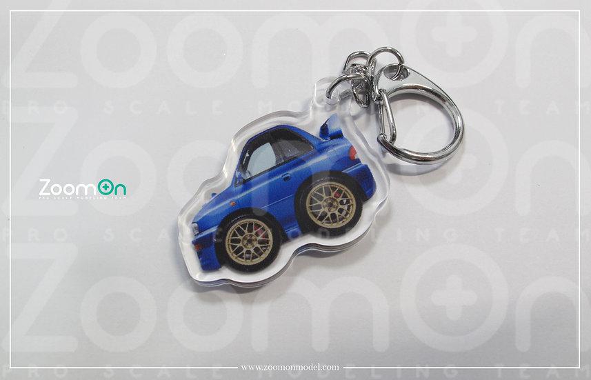 ZA003 Subaru Impreza 22B Q Keychain
