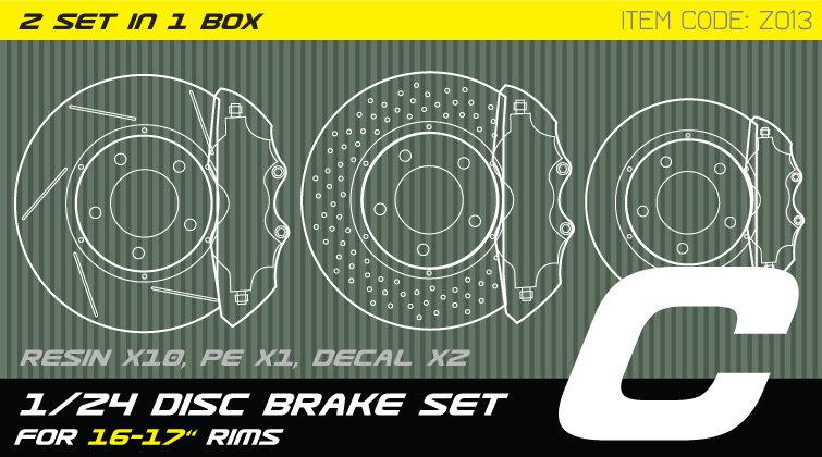 Z013 1/24 Disc brake set C for 15-17'' rims