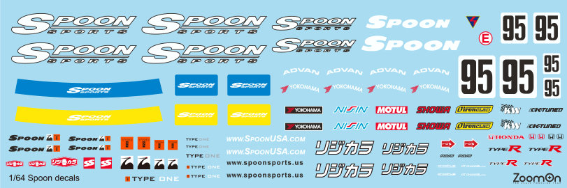 ZD040 1/64 Spoon decal