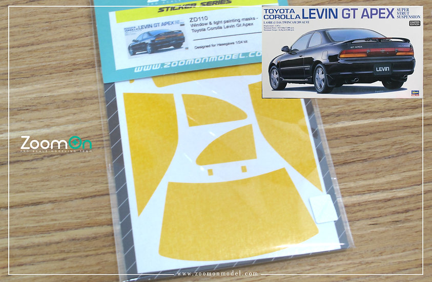 ZD110 Window & light painting masks -  Toyota Corolla Levin Gt Apex