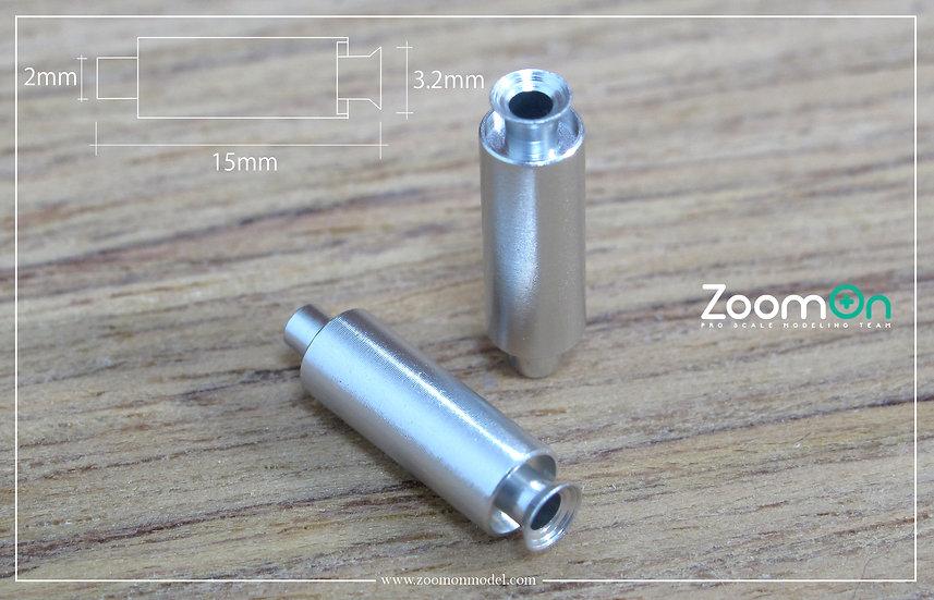 ZT023 Universal metal exhaust (S size)