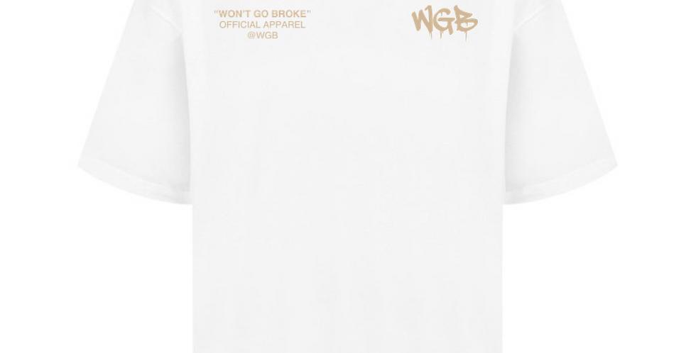WGB 'Hidden Hand' Oversized T-Shirt White/Beige