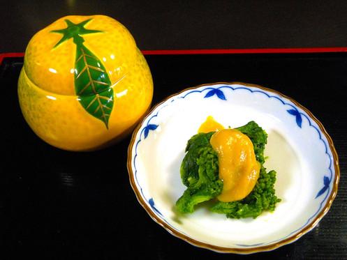 菜の花の柚味噌かけ