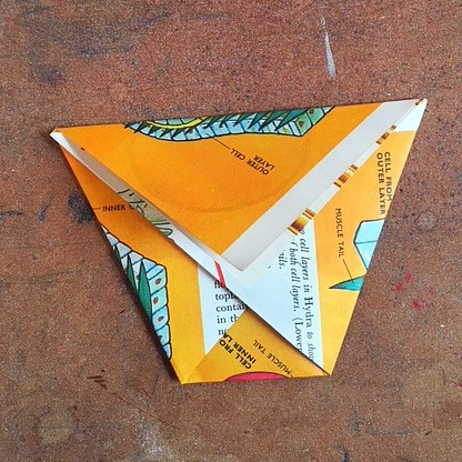 triangle with 4 folds