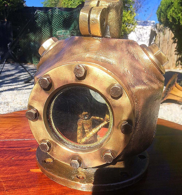 little man inside diving helmet