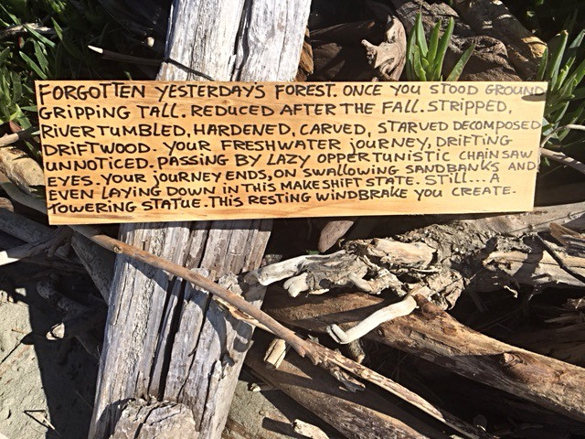 poem written on wood