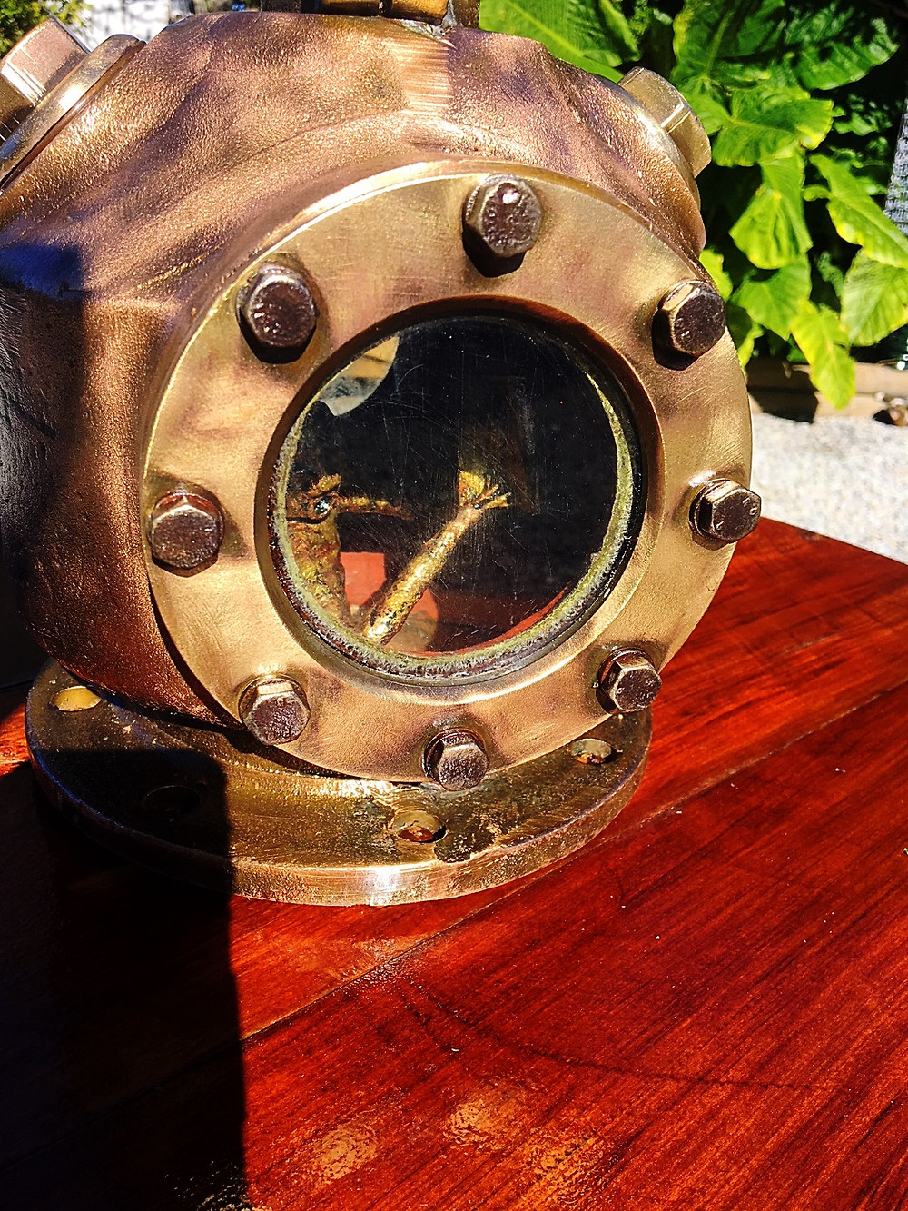 man inside diving helmet