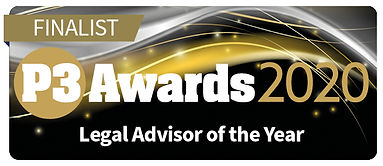 Finalist logo Legal Advisor of the Year.