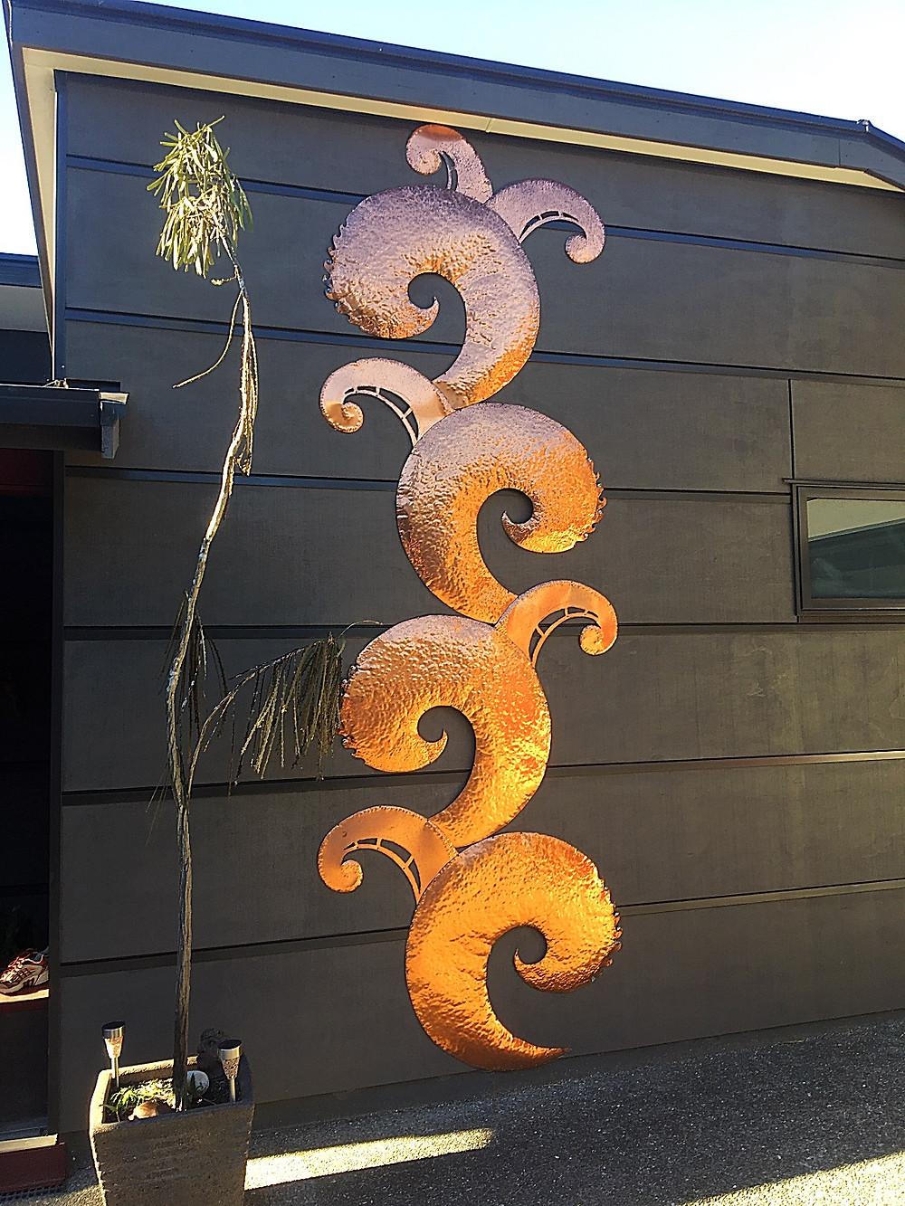 copper relief sculpture
