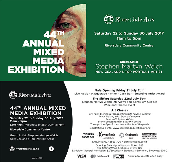 Over 60 invited national artists.