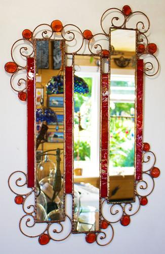 Red Split mirror