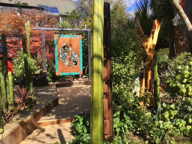 Sculptures in the garden