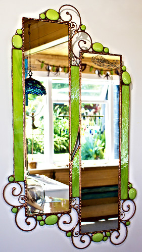 Green Split mirror
